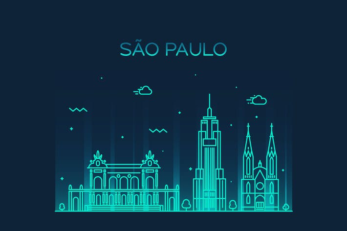 Thumbnail for Sao Paulo skyline, Brazil
