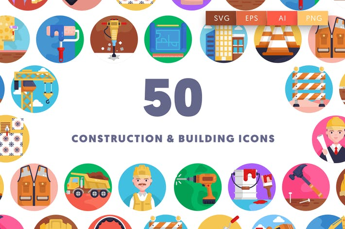 Thumbnail for 50 Construction & Building Icons