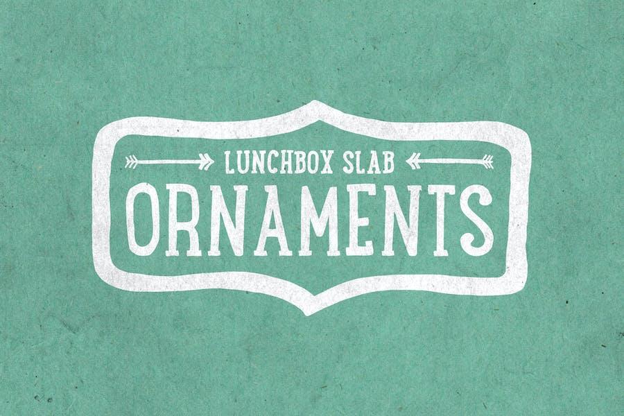 Lunchbox Slab Ornaments