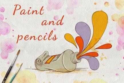 Farben und Bleistifte