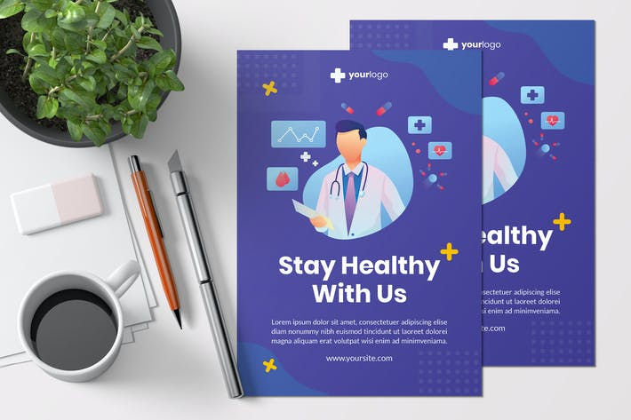 Thumbnail for Stay Healthy With Us - Creative Flyer Template