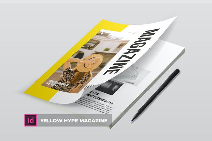 Thumbnail for Yellow Hype | Magazine Template