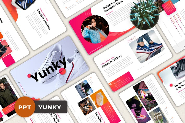 Thumbnail for Yunky - Creative Powerpoint Template