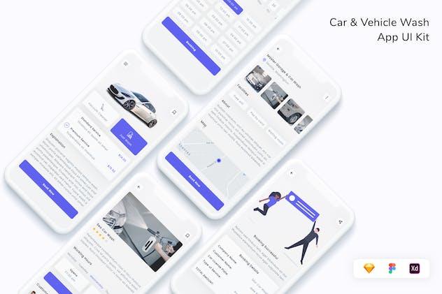 Car & Vehicle Wash App UI Kit