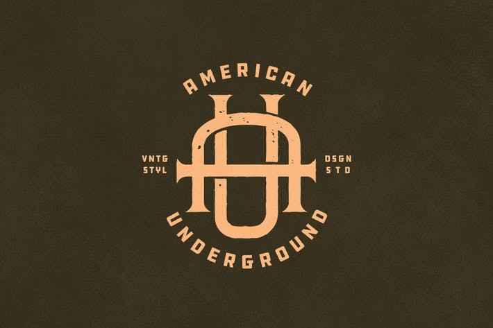 Thumbnail for AU Vintage Monogram Logo
