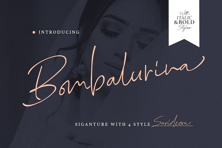 Thumbnail for Bombalurina Script (4 Fonts)