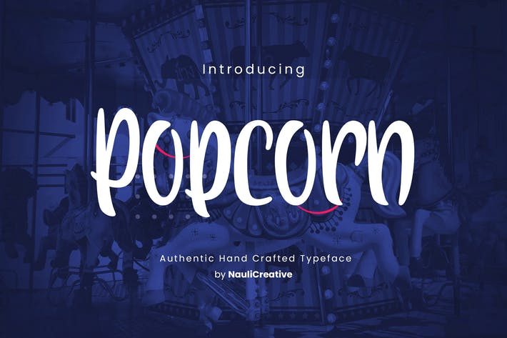 Thumbnail for Popcorn - Fun Decorative Font