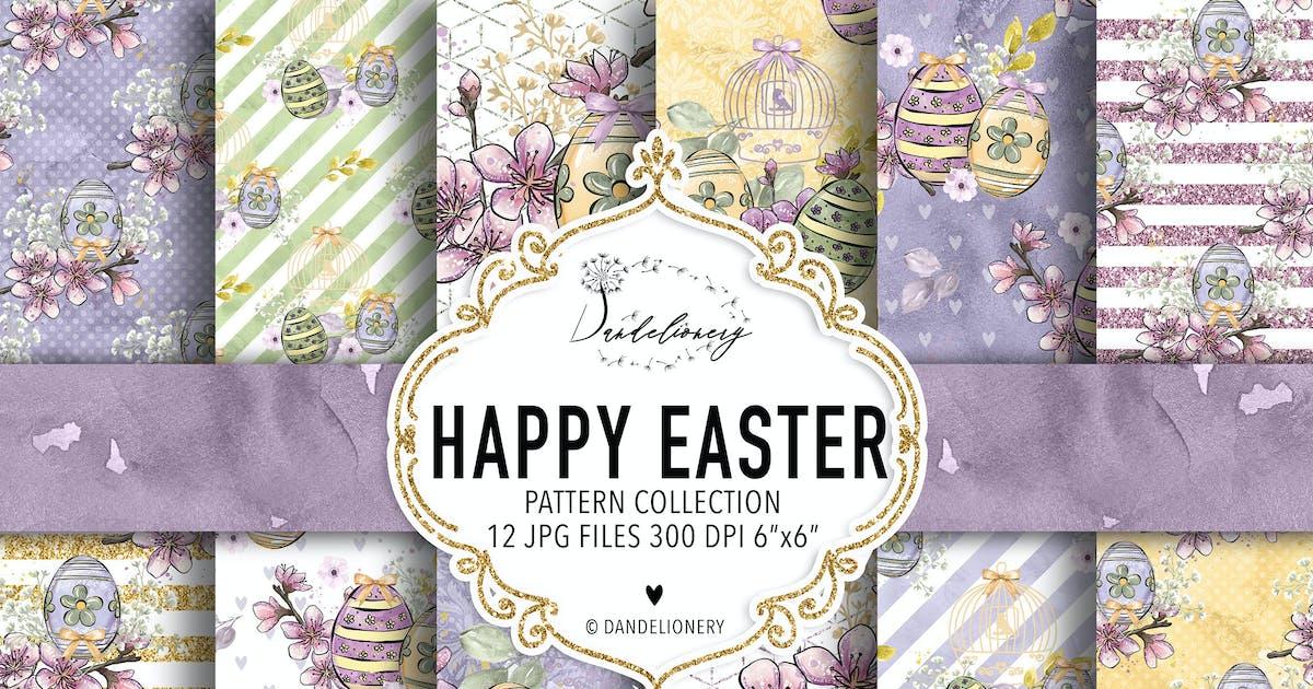 Download Happy Easter digital paper pack by designloverstudio