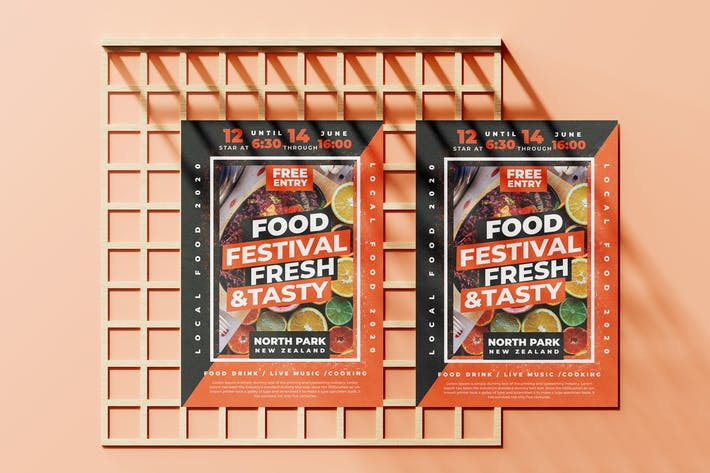 Cover Image For Food Festival Flyer