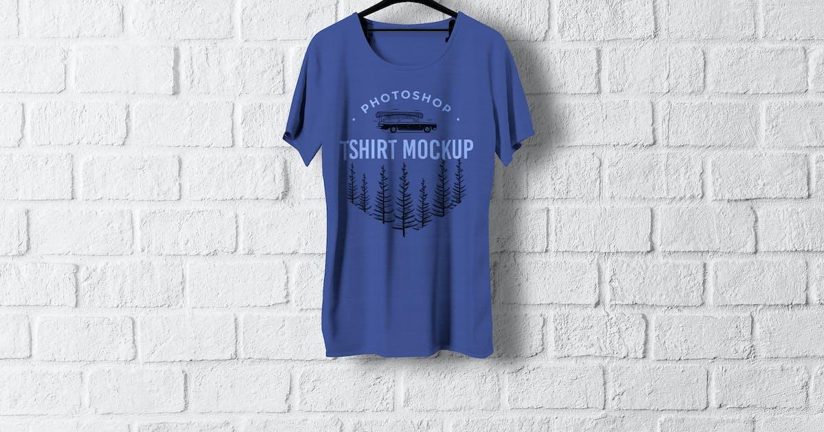 Download Hanging T-Shirt Mockup by artimasa_studio