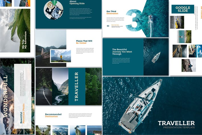 Cover Image For Traveller - Google Slides Template