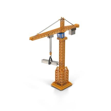Cartoon Tower Crane