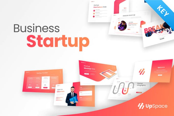Thumbnail for Upspace Business Startup Keynote Template