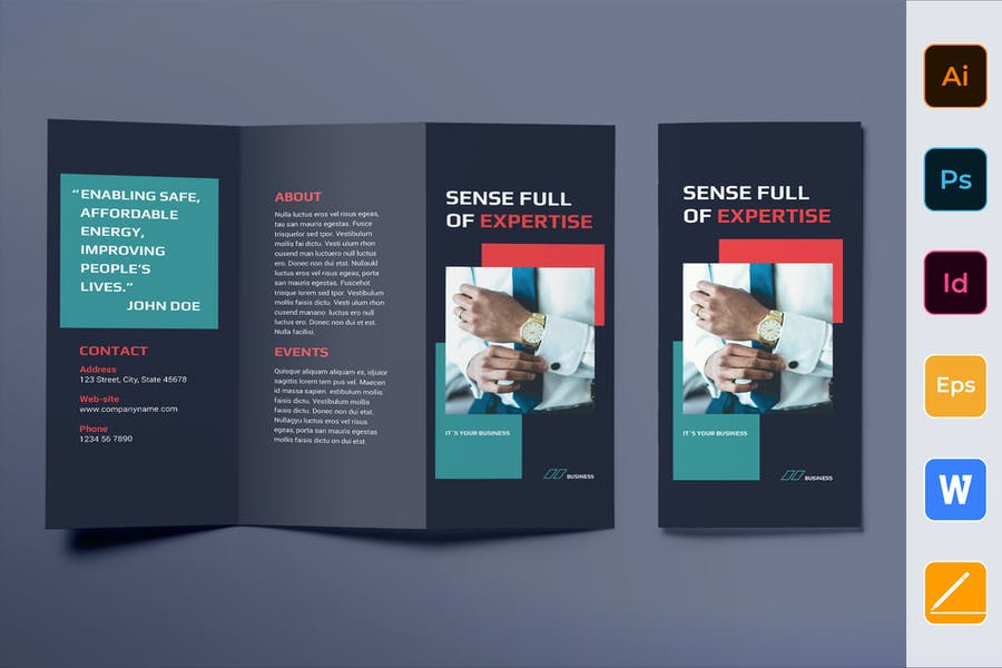 Business Consultant Brochure Trifold
