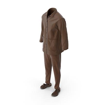 Мужская рубашка сандалии брюки Браун
