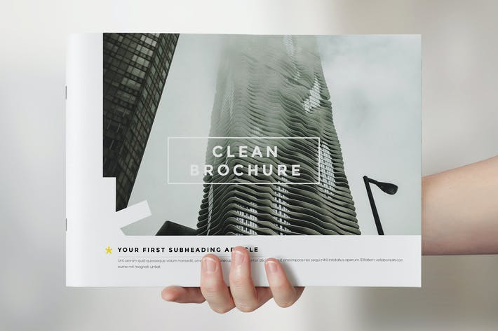 Clean Brochure Catalog Template By Kahuna Design On Envato Elements