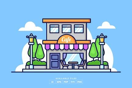 Иллюстрация магазина кафе