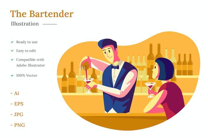 Thumbnail for Bartender Illustration