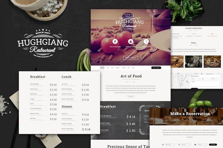 Thumbnail for HG Restaurant PSD Template