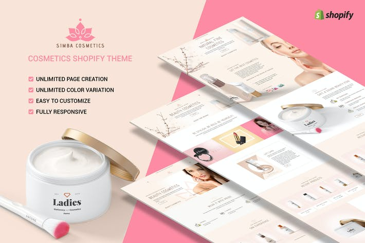 Cover Image For Simba Beauty - Tema de belleza Shopify