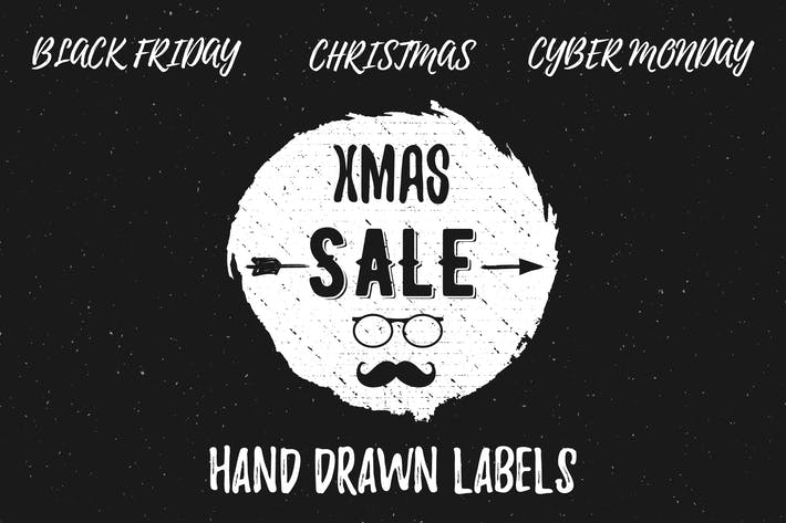 Thumbnail for Hand Drawn Christmas Sale Labels / Logos