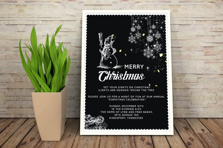 Thumbnail for Christmas Party Invitation Card II