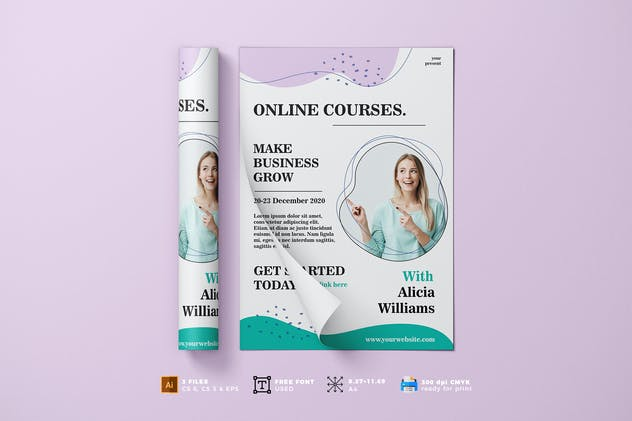Online Course Flyer Template Vol. 01