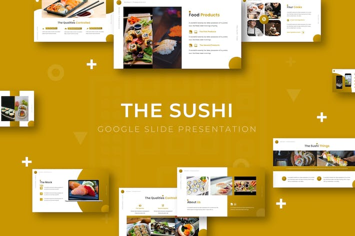 Thumbnail for The Sushi - Google Slide Template
