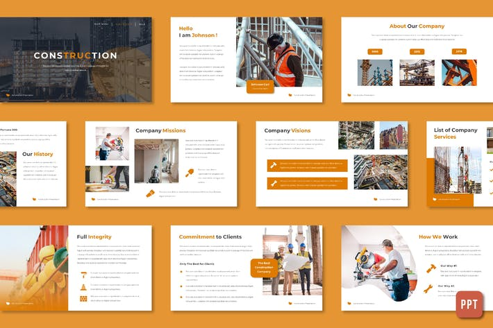 Cover Image For Construction - Powerpoint Template