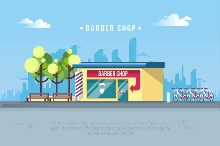 Thumbnail for Barbershop - Vector Landscape & Building