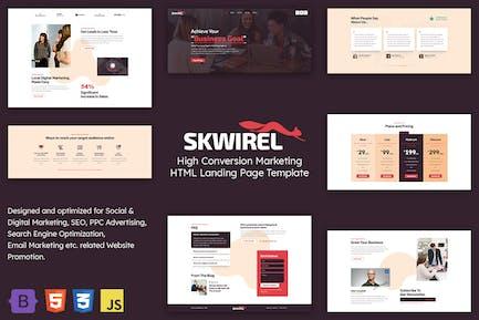 Skwirel - Page de destination Marketing de conversion élevée