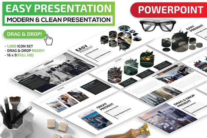 Thumbnail for Easy Powerpoint Presentation Template
