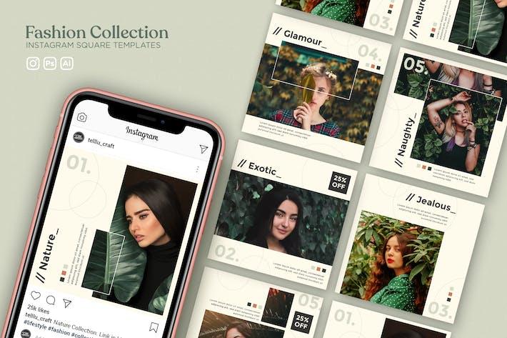 Thumbnail for Модные Коллекция Instagram КвадраШаблоны