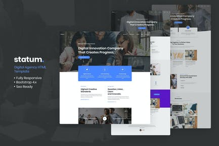 Statum - Business & Agency HTML5 Template
