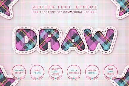 Tartan craft - editable text effect, font style