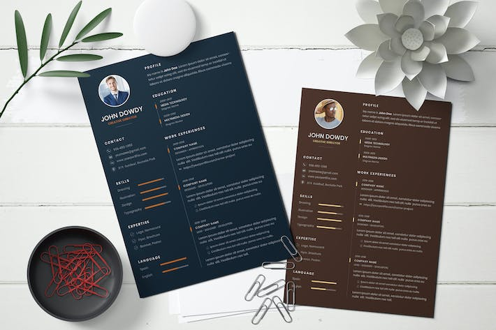 Cover Image For Business CV Resume Template