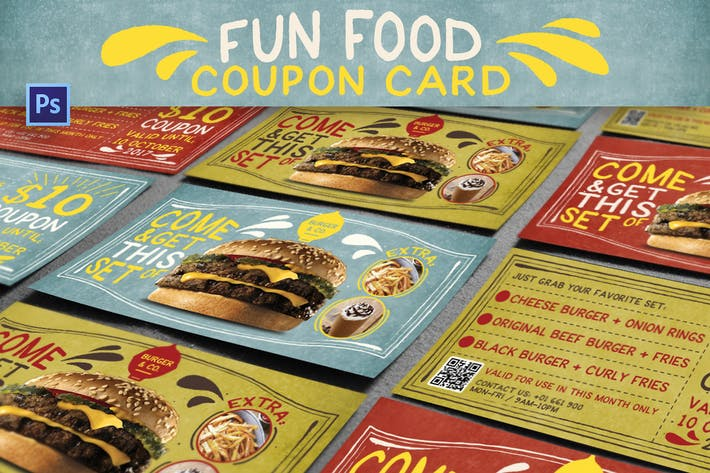 Thumbnail for Carte de coupon Fun Food
