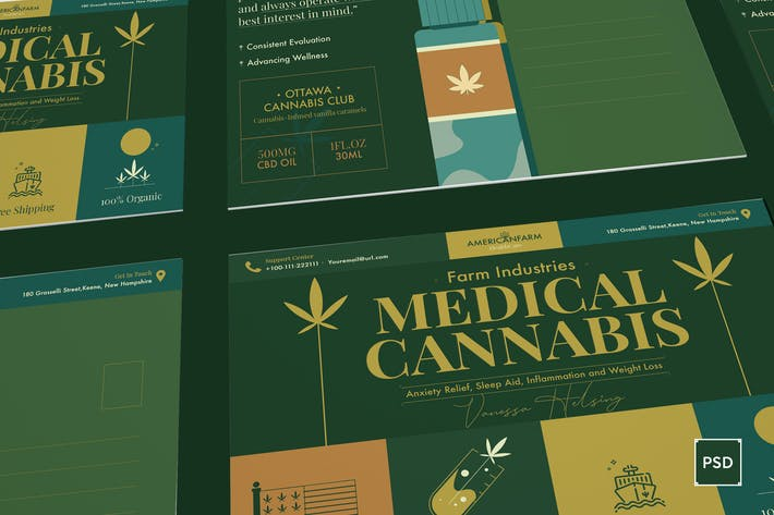Thumbnail for Cannabis Hemp Oil Products Postcard