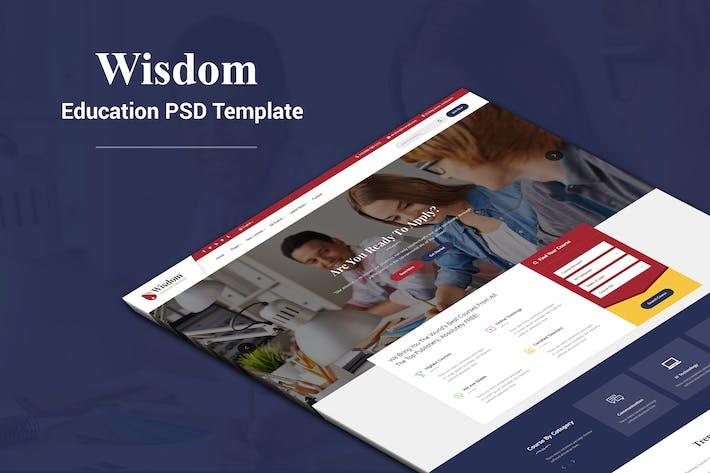 Thumbnail for Wisdom - Education PSD Template