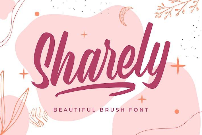 Sharely - Beautiful Brush Font