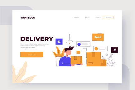 Delivery - Vector Illustration