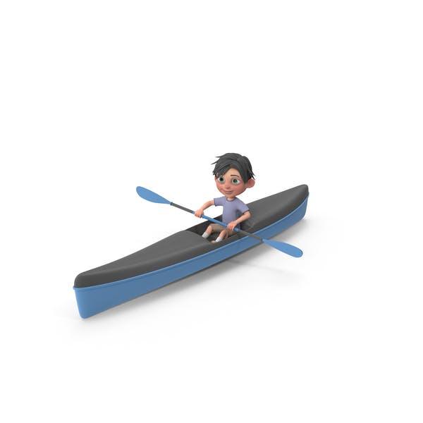 Thumbnail for Cartoon Boy Jack Kayaking