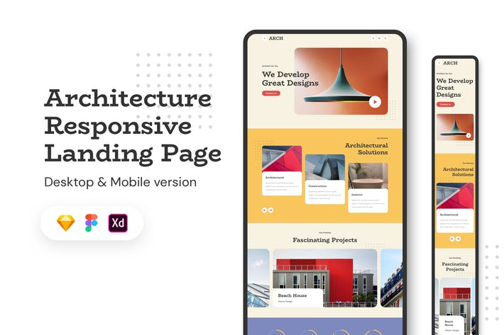 Thumbnail for Architecture Responsive Landing Page