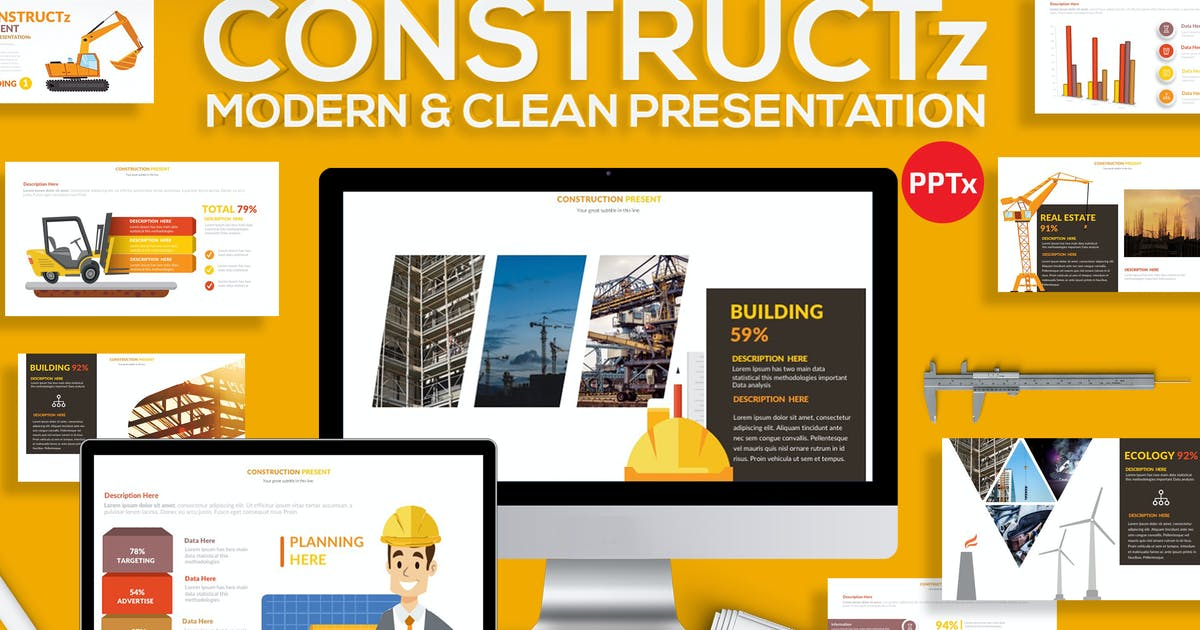 Download Construction Powerpoint by mamanamsai