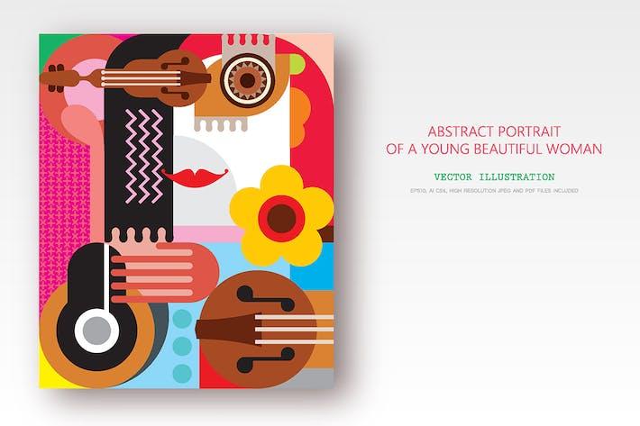 Thumbnail for Portrait abstrait d'une jeune belle femme
