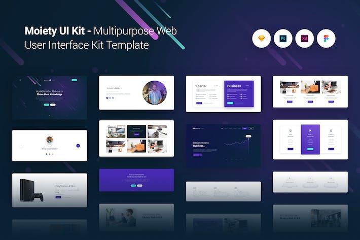 Thumbnail for Moiety Многоцелевой веб-интерфейс UX Kit Шаблон Тема