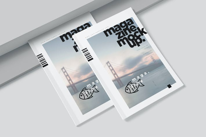 Thumbnail for A4 Magazine Cover &  Page Spread Mockups
