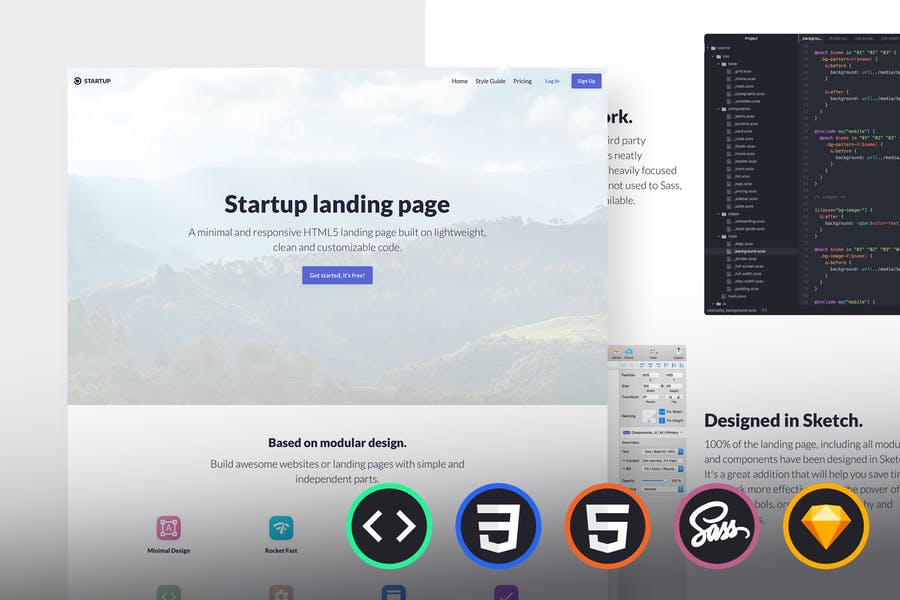 Emanate - Startup Landing Page