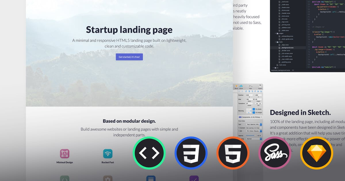 Download Emanate - Startup Landing Page by uiuxassets