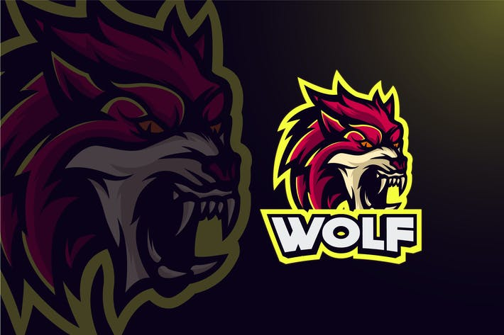 Thumbnail for WOLF MASCOT LOGO TEMPLATE